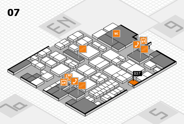 EuroShop 2017 hall map (Hall 7): stand B37