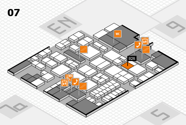 EuroShop 2017 hall map (Hall 7): stand B28