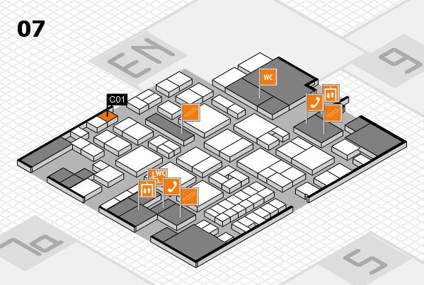 EuroShop 2017 hall map (Hall 7): stand C01