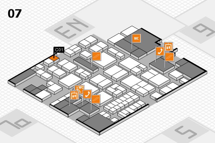 EuroShop 2017 hall map (Hall 7): stand C01