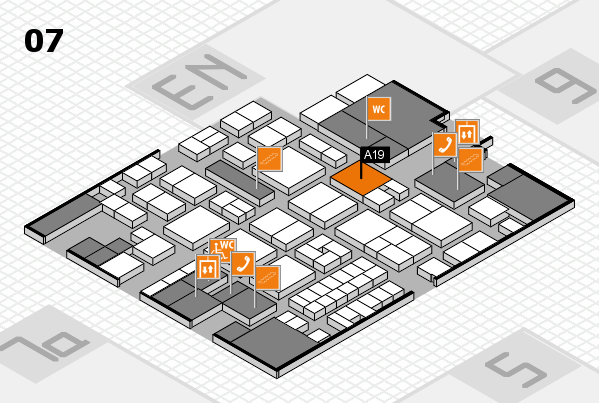 EuroShop 2017 hall map (Hall 7): stand A19