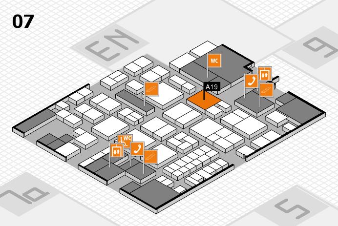 EuroShop 2017 hall map (Hall 7): stand A19