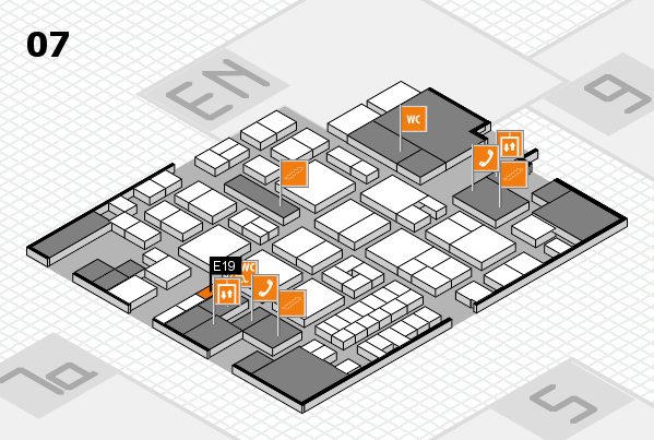EuroShop 2017 hall map (Hall 7): stand E19