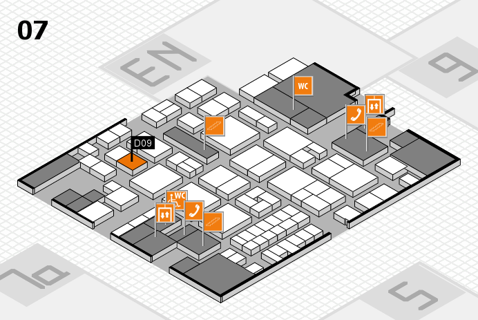 EuroShop 2017 hall map (Hall 7): stand D09