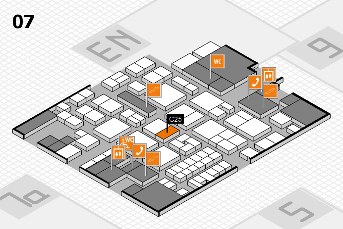 EuroShop 2017 hall map (Hall 7): stand C25