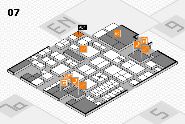 EuroShop 2017 hall map (Hall 7): stand A01