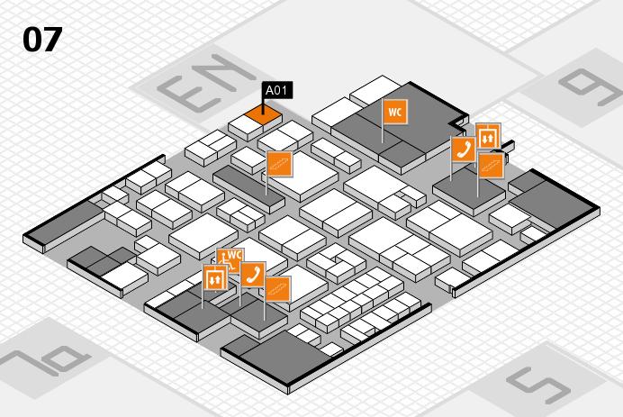 EuroShop 2017 hall map (Hall 7): stand A01
