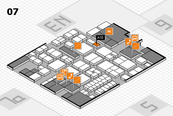 EuroShop 2017 hall map (Hall 7): stand A15