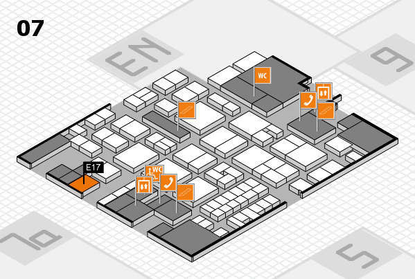 EuroShop 2017 hall map (Hall 7): stand E17