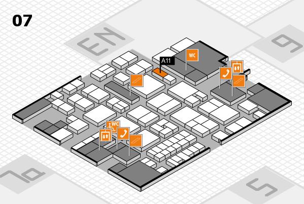 EuroShop 2017 hall map (Hall 7): stand A11