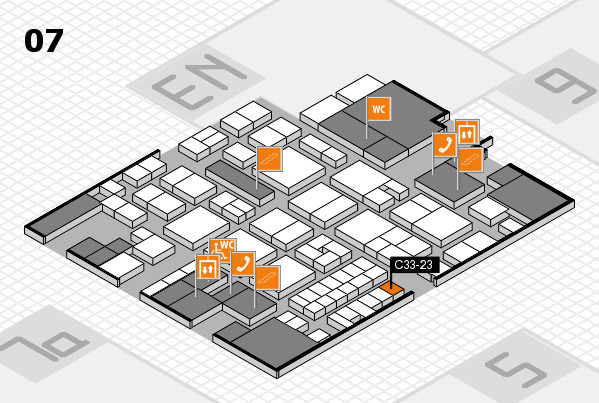 EuroShop 2017 hall map (Hall 7): stand C33-23