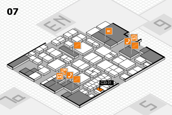 EuroShop 2017 hall map (Hall 7): stand C33-31