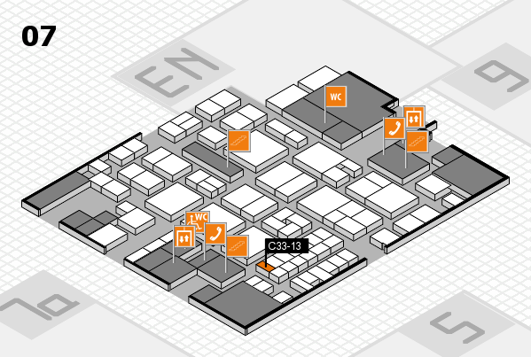 EuroShop 2017 hall map (Hall 7): stand C33-13