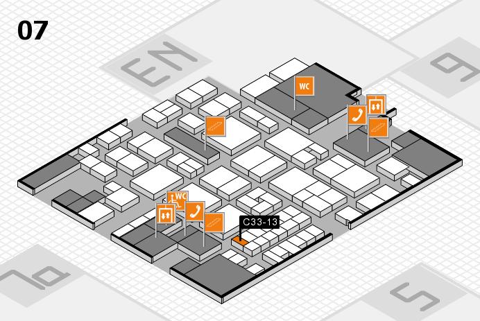 EuroShop 2017 hall map (Hall 7): stand C33-13