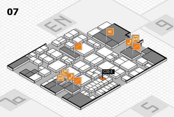 EuroShop 2017 hall map (Hall 7): stand C33-3