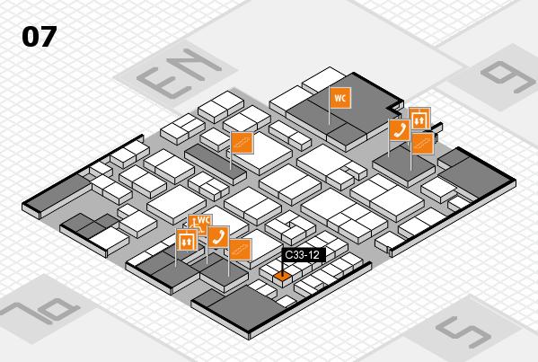 EuroShop 2017 hall map (Hall 7): stand C33-12