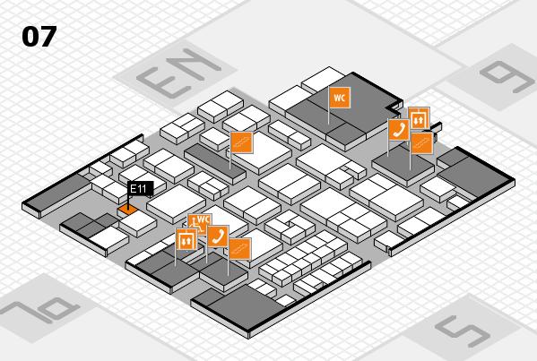 EuroShop 2017 hall map (Hall 7): stand E11