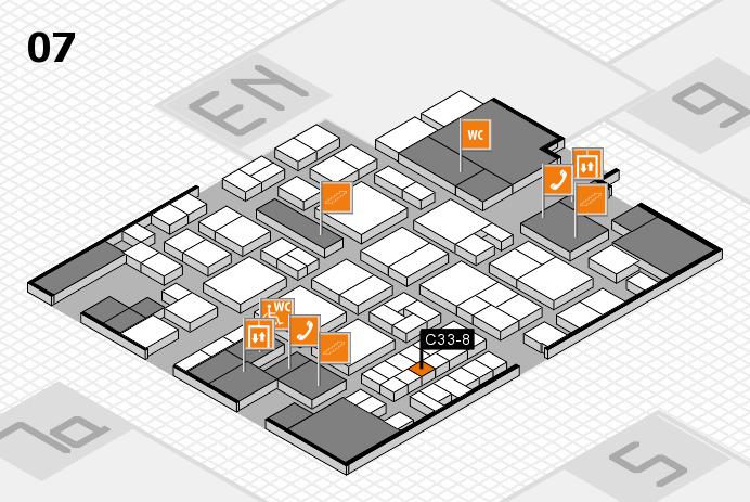 EuroShop 2017 hall map (Hall 7): stand C33-8