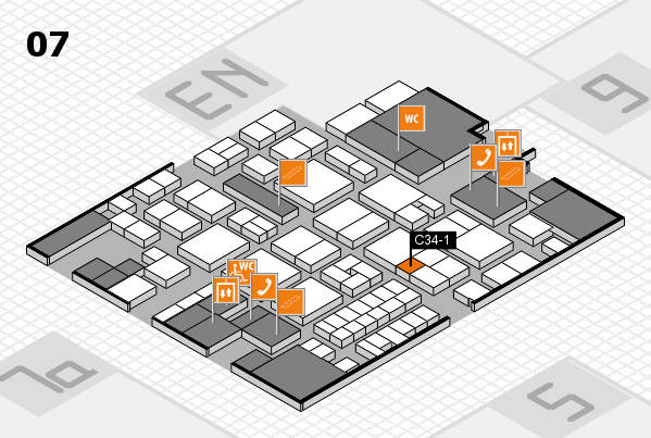EuroShop 2017 hall map (Hall 7): stand C34-1