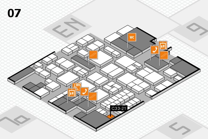 EuroShop 2017 hall map (Hall 7): stand C33-21