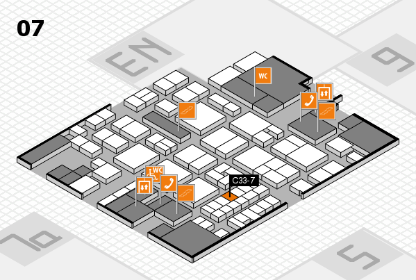 EuroShop 2017 hall map (Hall 7): stand C33-7