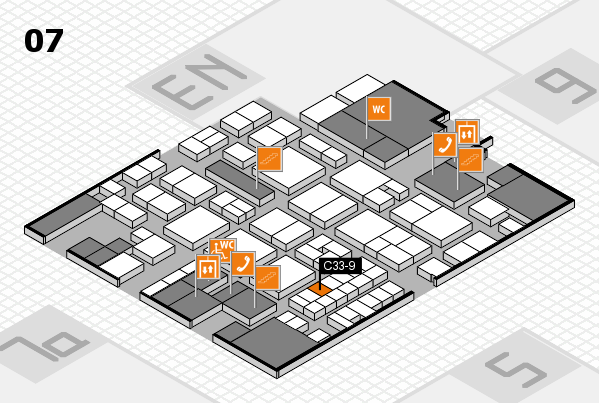 EuroShop 2017 hall map (Hall 7): stand C33-9