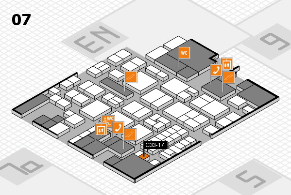 EuroShop 2017 hall map (Hall 7): stand C33-17