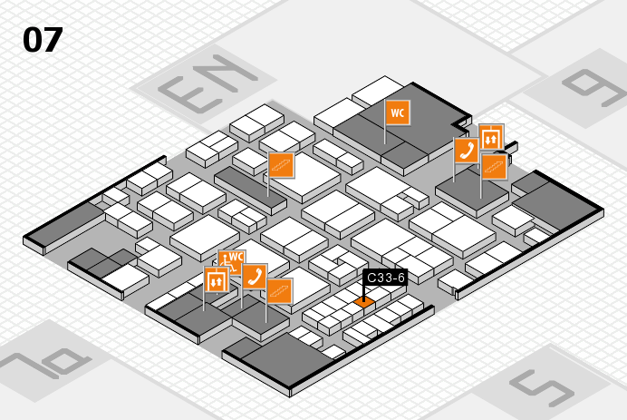 EuroShop 2017 hall map (Hall 7): stand C33-6