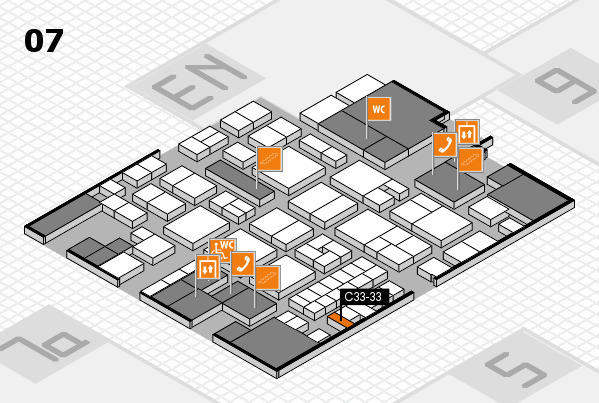 EuroShop 2017 hall map (Hall 7): stand C33-33