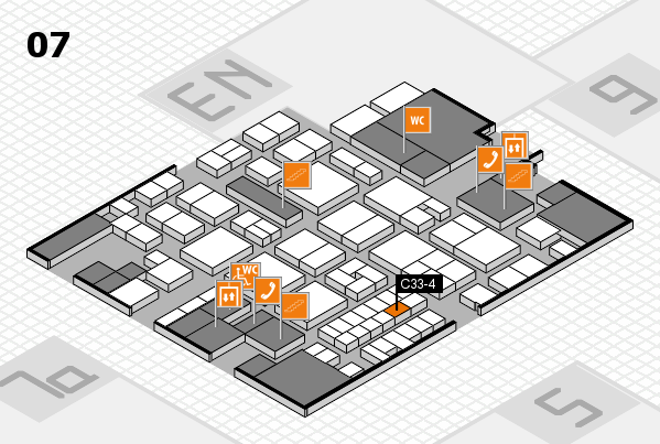 EuroShop 2017 hall map (Hall 7): stand C33-4