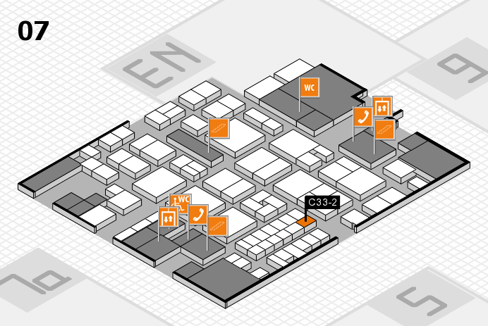 EuroShop 2017 hall map (Hall 7): stand C33-2