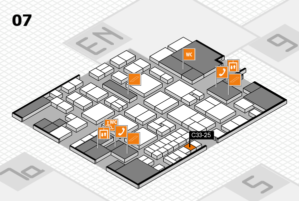 EuroShop 2017 hall map (Hall 7): stand C33-25