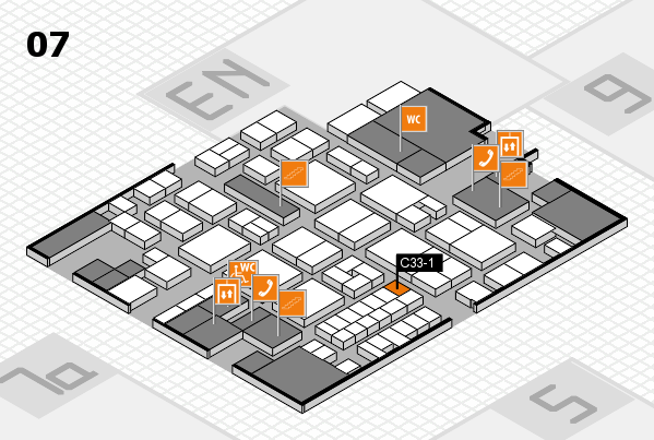 EuroShop 2017 hall map (Hall 7): stand C33-1