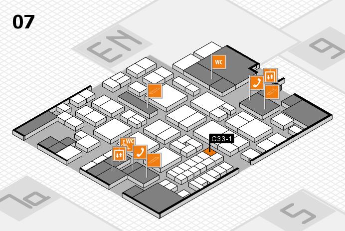 EuroShop 2017 hall map (Hall 7): stand C33-1
