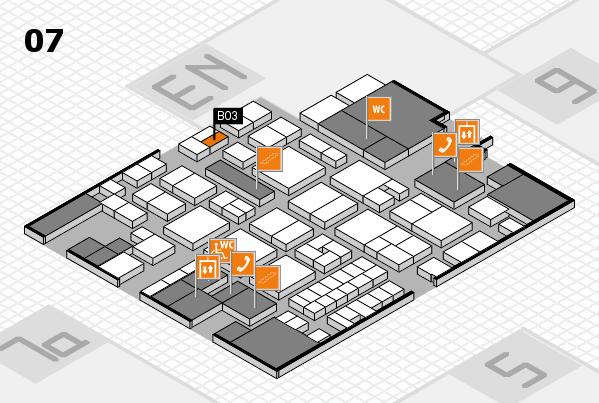 EuroShop 2017 hall map (Hall 7): stand B03