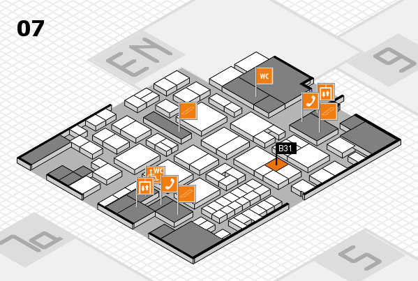 EuroShop 2017 hall map (Hall 7): stand B31
