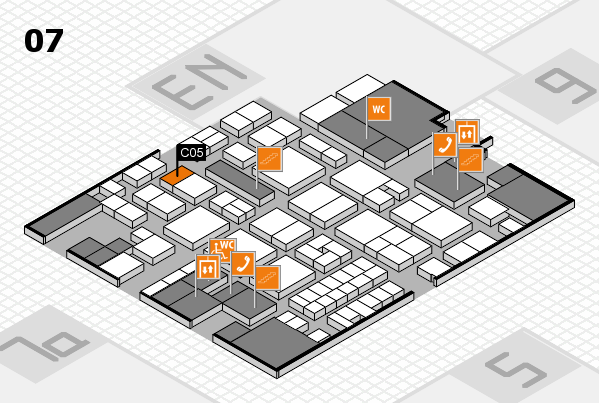 EuroShop 2017 hall map (Hall 7): stand C05