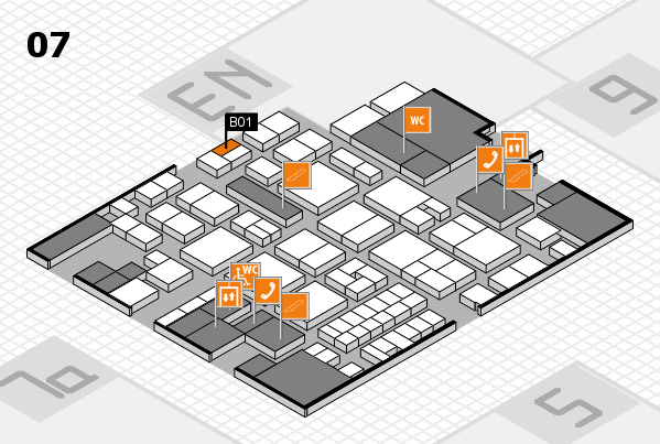 EuroShop 2017 hall map (Hall 7): stand B01
