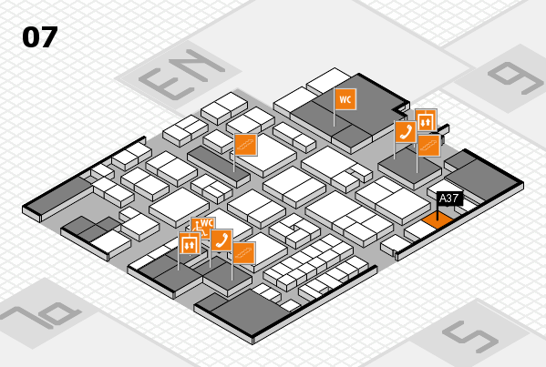 EuroShop 2017 hall map (Hall 7): stand A37
