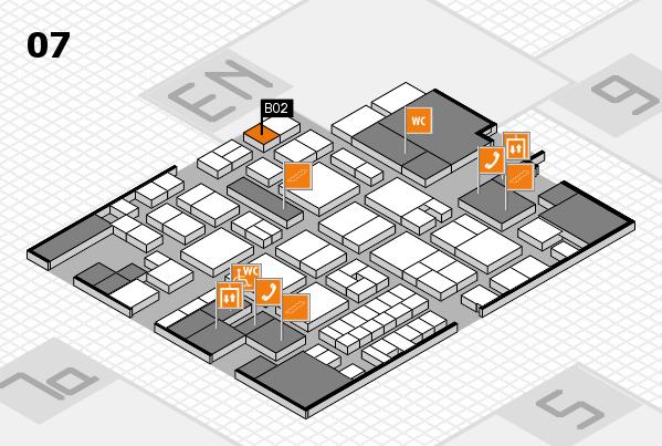 EuroShop 2017 hall map (Hall 7): stand B02