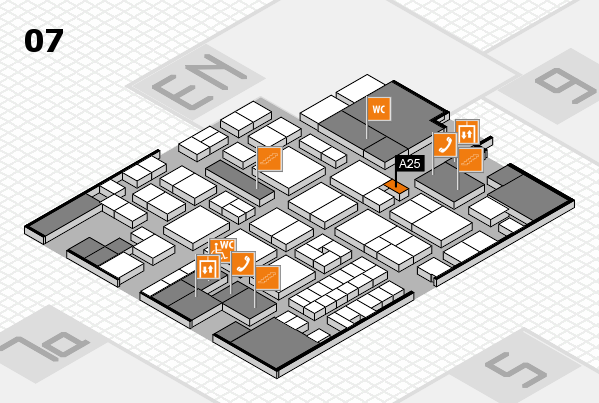 EuroShop 2017 hall map (Hall 7): stand A25