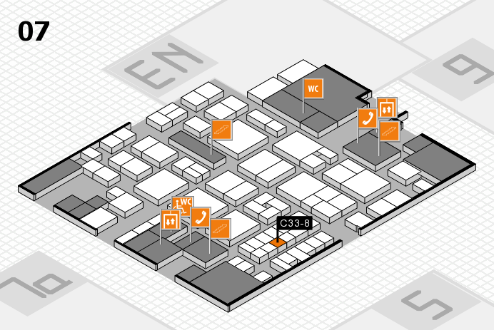 EuroShop 2017 hall map (Hall 7): stand C33-8
