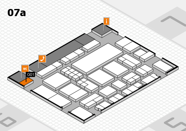 EuroShop 2017 hall map (Hall 7a): stand G01
