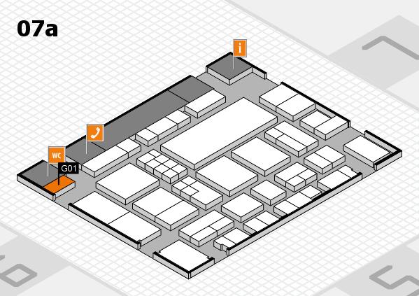 EuroShop 2017 hall map (Hall 7a): stand G01