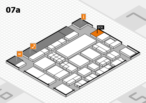EuroShop 2017 hall map (Hall 7a): stand B08