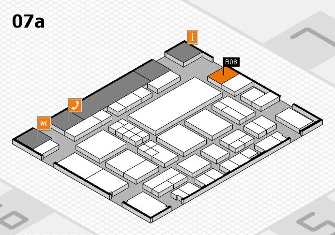 EuroShop 2017 hall map (Hall 7a): stand B08