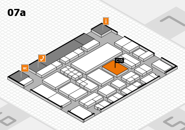 EuroShop 2017 hall map (Hall 7a): stand C15