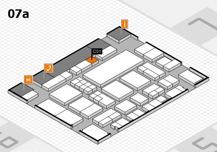 EuroShop 2017 hall map (Hall 7a): stand C01