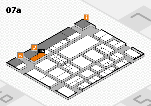 EuroShop 2017 hall map (Hall 7a): stand G02
