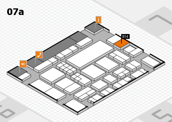 EuroShop 2017 hall map (Hall 7a): stand B14